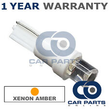 1X T5 286 74 17 18 AMBER INSTRUMENT INDICATOR DASHBOARD SPEEDO CONCAVE LED BULB