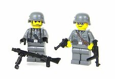 German MG Team WW2 Wehrmacht Soldiers (SKU18) made w/ real LEGO® minifigures