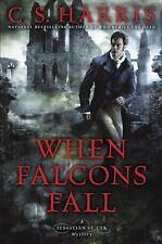 When Falcons Fall (Sebastian St. Cyr Mystery) 1st Edition ~ Free Shipping