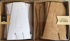 Self Adhesive Letters 32 Ivory Letters 32 Brown Kraft Paper Letters Large Target