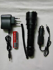RECHARGEABLE LED TORCH 700 METER COVER ,WATERPROOF
