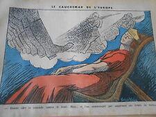 Le Cauchemar de l'Europe La croisage contre le bruit Bottes dessin Print 1935