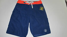 NWT Volcom Boys 28/16 Board Shorts 38th ST Navy Blue Red Surf Hawaii