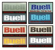 Buell Reflective (Black, White, Blue, or Red) Vinyl Decal - Qty 1 - Bike Helmet
