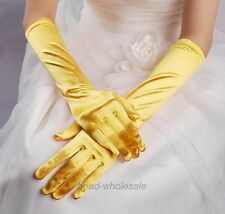Fashion Satin Long Gloves Opera Wedding Bridal Evening Party Costume Gloves