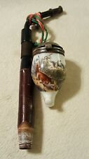 Antique German Tobacco smoking Pipe Hunting Scene on Bowl - MISSING PIECE