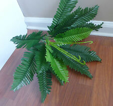 2x 18 Leaf Boston Grass Bushes Artificial Plants Tree Silk Fern Leaf Landscape