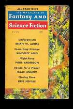 The Magazine of Fantasy and SF 7.1961 All Star : Aldiss Anderson Asimov Neville