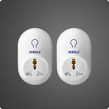 2 PCS KERUI Wireless Remote Control Switch Smart Power Socket  Plug Alarm 433MHz