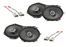 NEW INFINITY CAR STEREO AUDIO FRONT & REAR SPEAKERS W/ INSTALL SPEAKER HARNESS