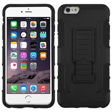 "BLACK CAR ARMOR STAND SKIN COVER CASE for 5.5"" iPhone 6 Plus & iPhone 6s Plus"