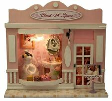 DIY Handcraft Miniature Dolls House Shop - Lights Dollhouse - UK Stock Fast Post