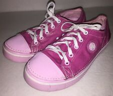 Womens CROCS shimmer Canvas PINK sneaker shoes size 6