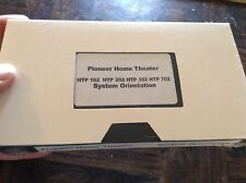 Pioneer home theater system orientation tape