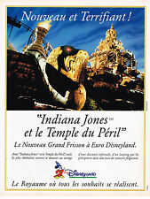 PUBLICITE ADVERTISING 025  1994  EURO DISNEYLAND  INDIANA JONES