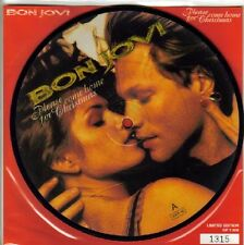 EX/EX! BON JOVI PLEASE COME HOME FOR CHRISTMAS VINYL PICTURE DISC + BACKING CARD