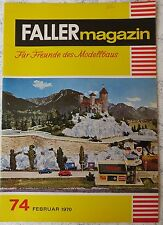 für Faller AMS ---  Faller Magazin 74, Februar 1970, Sprache Niederländisch !