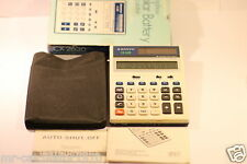 VINTAGE AMORPHOUS SOLAR BATTERY CALCULATOR CX2630 WITH BOX & MANUAL