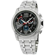 Citizen Men's BY0100-51H Chrono-Time Analog Display Japanese Quartz Silver Watch