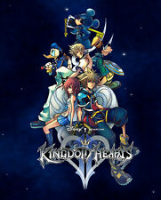 "Kingdom Hearts Boy 1 2 Game Fabric poster 17""x13"" Decor 32"