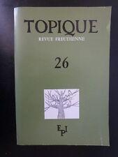 Psychanalyse : Topique Revue Freudienne n°26 - Sans titre