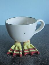 Studio Pottery - Pottery Cup - With Duck Feet -Signed  *Fun*