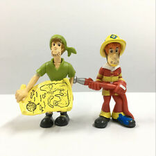 2X Scooby Doo Pirate Shaggy Fireman in the Pirate Fort Mega Set figure Movie Toy