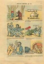 Caricature Politique Chaperon Rouge Radical Loup Socialiste FM 1925 ILLUSTRATION