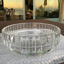 """FRENCH BACCARAT CRYSTAL 91/2"""" CENTER BOWL """"ROTARY"""" PATTERN"""