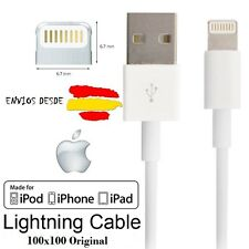 Cable cargador original iPhone 100x100 LIGHTNING 5 5S 5C 5SE 6 6S 6 PLUS IPAD