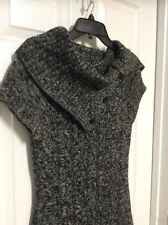 CALVIN KLEIN Sweater Dress ~ Black and White Short Sleeve KNIT Size Small S