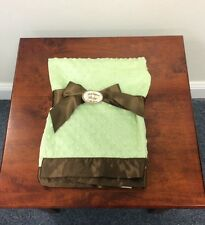 50% Off!  Beautiful Bearington Baby Unisex Soft, Green and Brown Baby Blanket