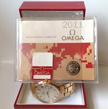 Omega Automatic Gold Plated Gents vintage watch c 1979 NOS? Hangtag Blank Papers