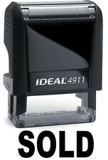 SOLD stamp text on IDEAL 4911 Self-inking Rubber Stamp with BLACK INK