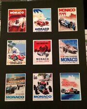 """FORMULA 1 MONACO RETRO  POSTERS 14"""" BY 11"""" PICTURE MOUNTED READY TO FRAME"""