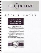 Rare 6 Page Copy of Jaeger Lecoultre 497 Futurmatic Repair Manual For Auction