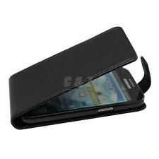 Black Leather Case Cover + LCD Film for Samsung GT-i8552 Galaxy Win Duos  o