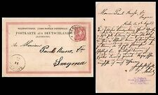 GERMANY, BERLIN TO BRITISH LEVANT, SMYRNA ca 1885 POSTAL STATIONERY CARD