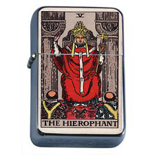 Tarot Card D7 Windproof Dual Flame Torch Lighter V The Hierophant