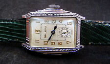 RARE EXCELLENT ORIGINAL FANCY VINTAGE 1927 BULOVA  MANUAL WIND WATCH SERVICE 10A
