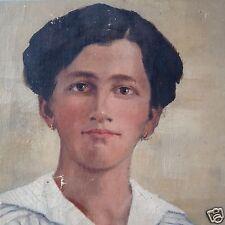 Ölgemälde Porträt Bildnis Art Deco Mädchen bezeichnet Gertrud Amiet datiert 1920