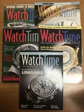 Lot of 5 WATCH TIME Magazine Specials - Rolex Breguet Piguet Longines Patek Phil
