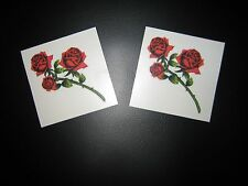LOT 2 - ROSE BUDS Temporary Tattoo MEDIUM SIZE