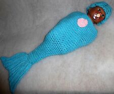 "New baby girl boy dolls mermaid outfit sleeping bag Annabell Chou 19"" 20"" 21"""