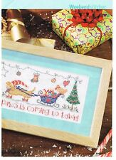 SANTA PAWS by Gail Bussi Cross Stitch pattern from magazine.