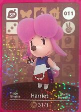 Animal Crossing Series 1 Amiibo card - 011 Harriet - Nintendo 3DS HHD