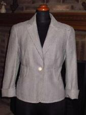 DESIGNER SEXY AKRIS BLACK and WHITE  BLAZER JACKET 4