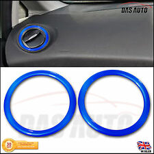 BLUE AIR VENT RINGS FORD FIESTA GEL BADGE OVERLAY TRIM MK7 7.5 8 9 ST SE Zetec S