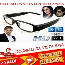 Occhiali da vista spia con telecamera invisibile full HD 1280 x 720 usb video