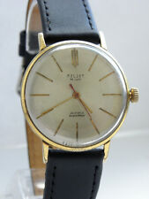 RARE EXPORT POLJOT DE LUXE MEN`s 1970s SLIM WATCH GILT SOVIET RUSSIAN *SERVICED*